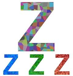 Mosaic font design - letter z vector
