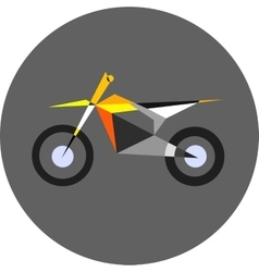 Motocross bike sport vector