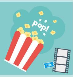 Movie popcorn vector