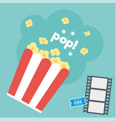 movie popcorn vector image