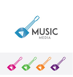 music media logo vector image