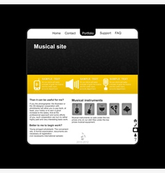 Musical site2 vector