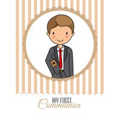 My first communion boy vector