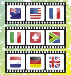 National flags of vector
