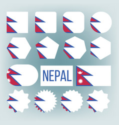 nepal flag set official nepal flag flat vector image