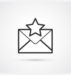 new important message flat line trendy black icon vector image