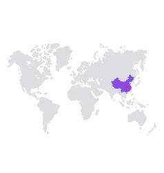 pandemic china coronavirus outbreak poster map vector image