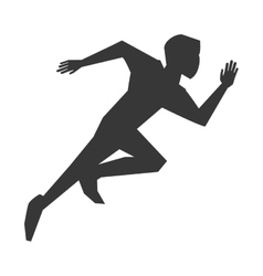 person running silhouette vector image