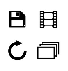 photo editing simple related icons vector image