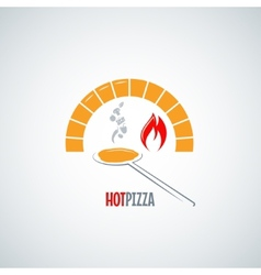 Pizza oven hot background vector