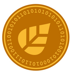 Plant leaf digital coin vector