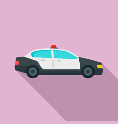 police patrol car icon flat style vector image