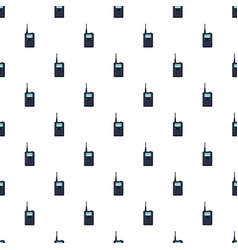 Portable handheld radio pattern vector