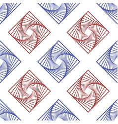 red blue square seamless pattern geometric vector image