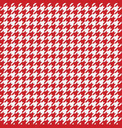 Red houndstooth pattern classical vector