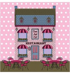 Restaurant facade Background Retro style vector image