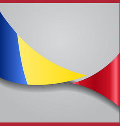 Romanian wavy flag vector