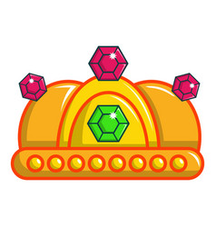 Ruby imperial crown icon cartoon style vector
