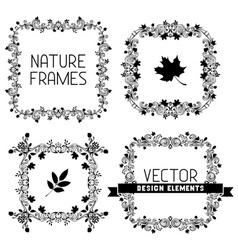 set of calligraphic nature frames vector image