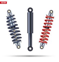Set shock absorber car suspension vector