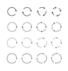 sets black circle arrows icons vector image