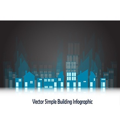 Simple blue buildings vector image