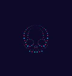 skull abstract print vector image
