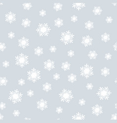 snow silver christmas seamless pattern vector image