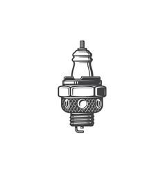 Sparking plug spark-ignition engine spare part vector