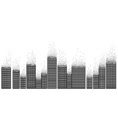square dotted city abstract city equalizer vector image