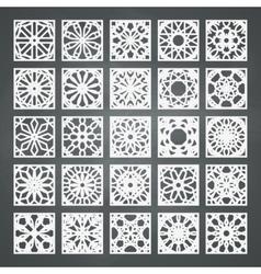 Square Ornament Set vector image