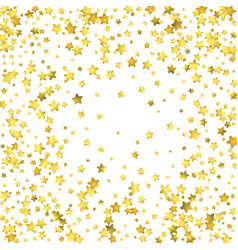Star confetti gold random confetti background vector