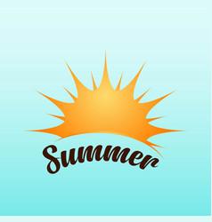 summer template design vector image