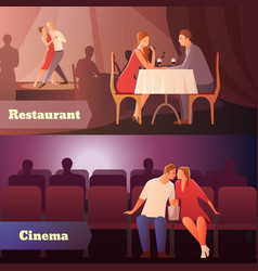 sweethearts in public set vector image
