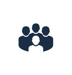 team social network logo icon design vector image