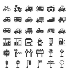 transportation and sign on road vector image