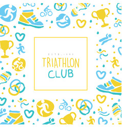 triathlon club banner template sports event vector image