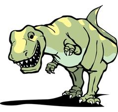 Tyrannosaurus rex smile vector