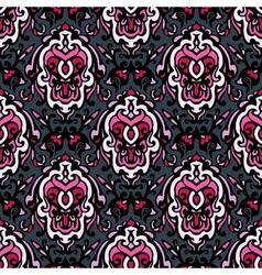 Vintage ethnic damask seamless pattern vector image
