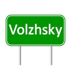 Volzhsky road sign vector