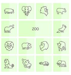 Zoo icons vector