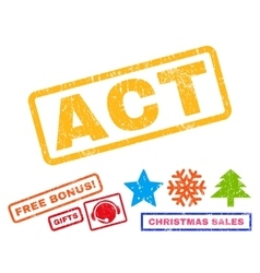 Act Rubber Stamp vector image