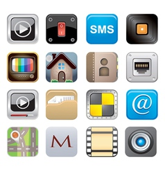 apps icon set one vector image vector image