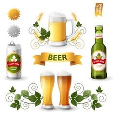 beer emblems vector image vector image