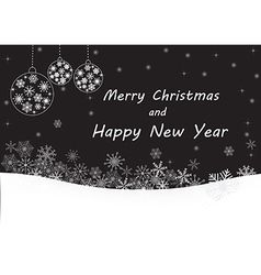 Black merry christmas and happy new year vector