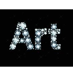 Diamond Word Art vector image vector image