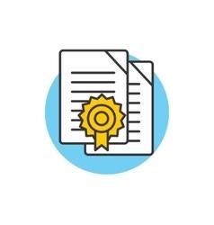 Diploma Icon Logo vector image