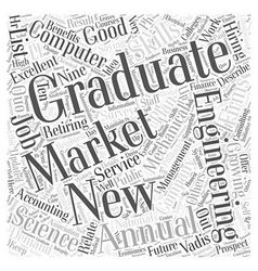 JH jobs for the new grad Word Cloud Concept vector image vector image