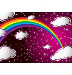 rainbow cloud vector image vector image