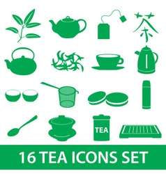 tea icons set eps10 vector image vector image